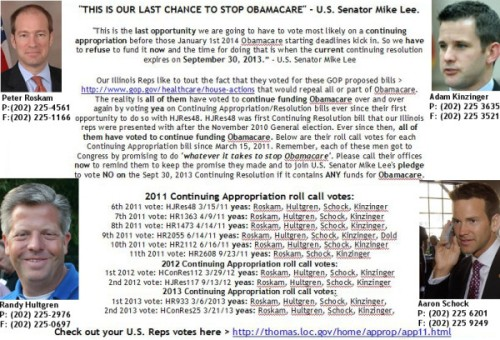 Last chance to defund Obamacare