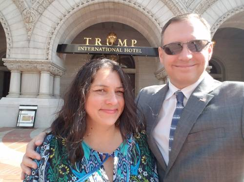 Jeannie and I at Trump Hotel in DC